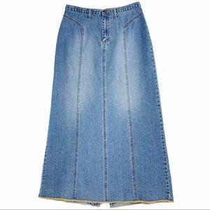 Vintage Long Jean Skirt